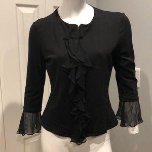 Zip ruffle blouse
